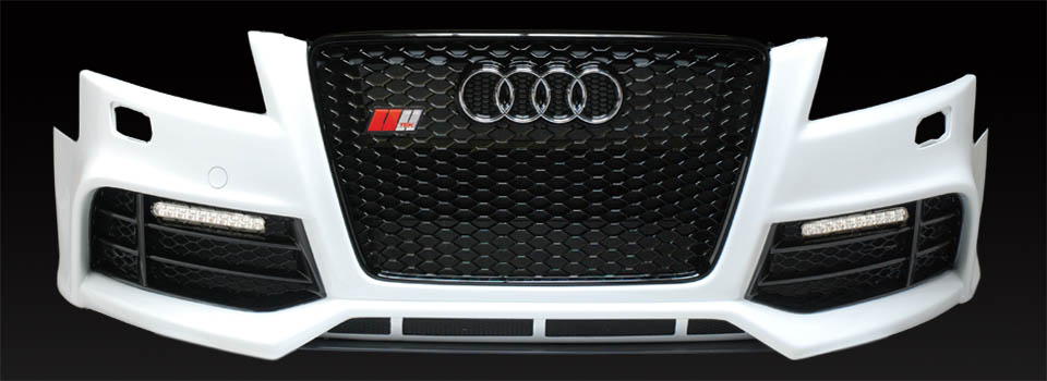 image - Audi A5 bumper with oem rs grille and badge