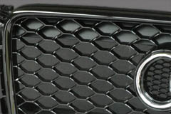 image - photo example of piano black (glossy) grille frame
