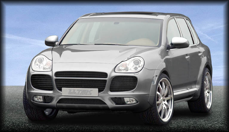 bodykit styling for the porsche cayenne 955 lltek press. Black Bedroom Furniture Sets. Home Design Ideas