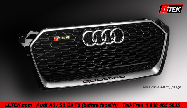 black mesh silver frame a5 s5 grille
