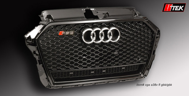 rs grille styling for audi a3 s3