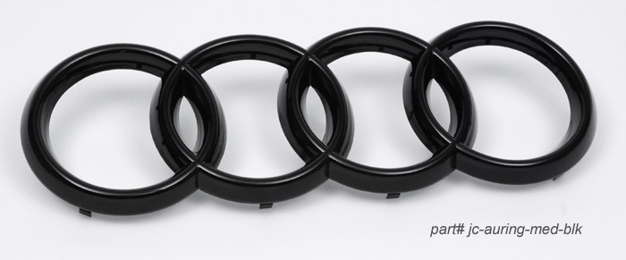glossy black grille rings for audi