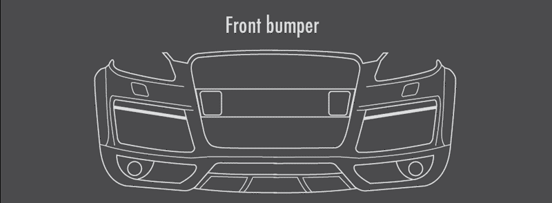 illustration of caractere front bumper for Audi Q7