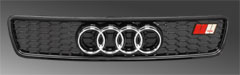 image - grille for audi a4 b5 gloss black