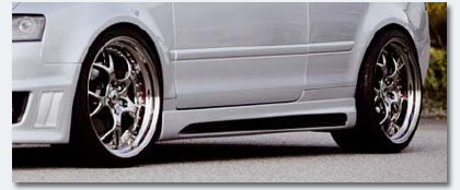 image - rieger sideskirts for the audi a4 b6 cabriolet