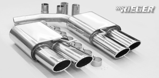 quad tip sports muffler for the audi a4 cabriolet