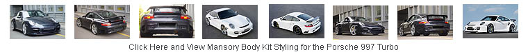 Click and View Body Kit Styling for the Porsche 997 Turbo by Mansory