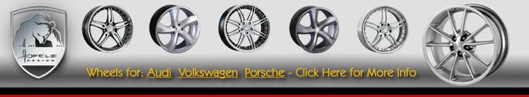 Click for hofel wheels page - audi vw and porsche